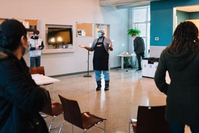 Pastor William Stein at Broncos Kitchen
