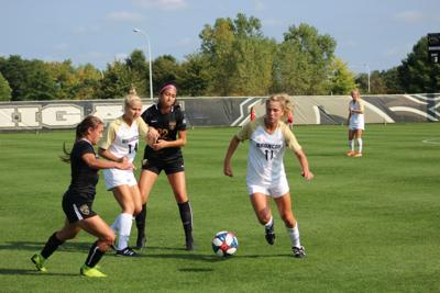 Women's soccer earns first MAC win