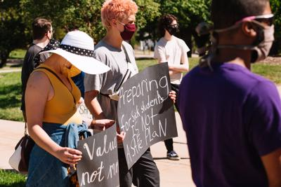Students protest in-person classes