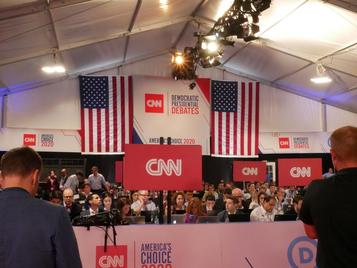 Sights and sounds from night two of the Democratic debate in Detroit
