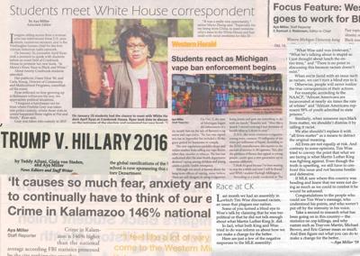 Aya Miller story collage