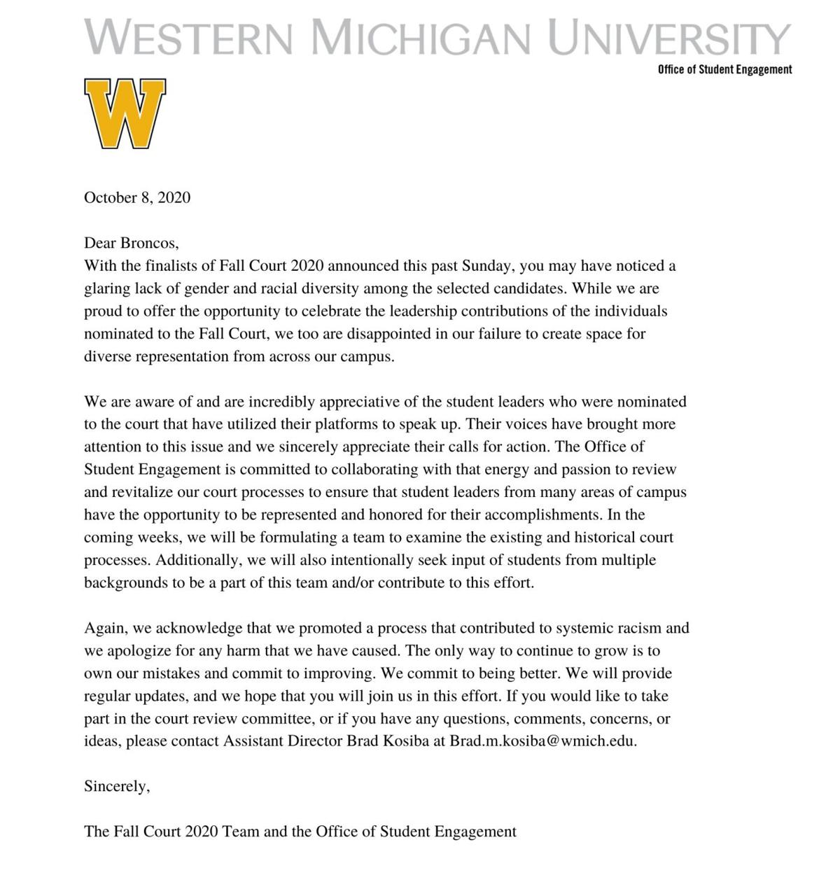 OSE 2020 Fall Court Statement