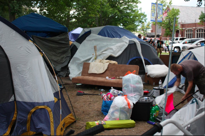 Life in tent city