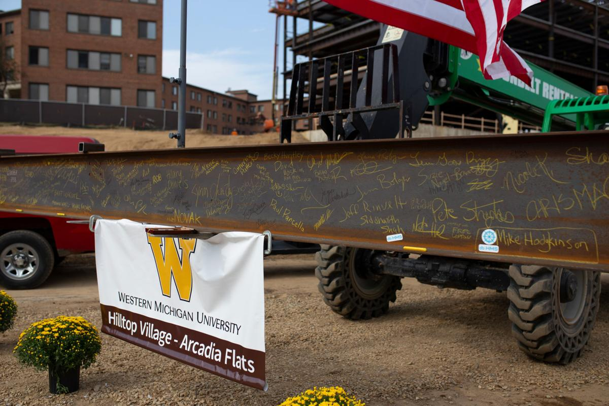 Signed beam built into Arcadia Flats