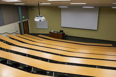 Empty Brown hall