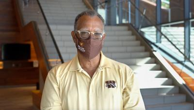 President Montgomery masks up