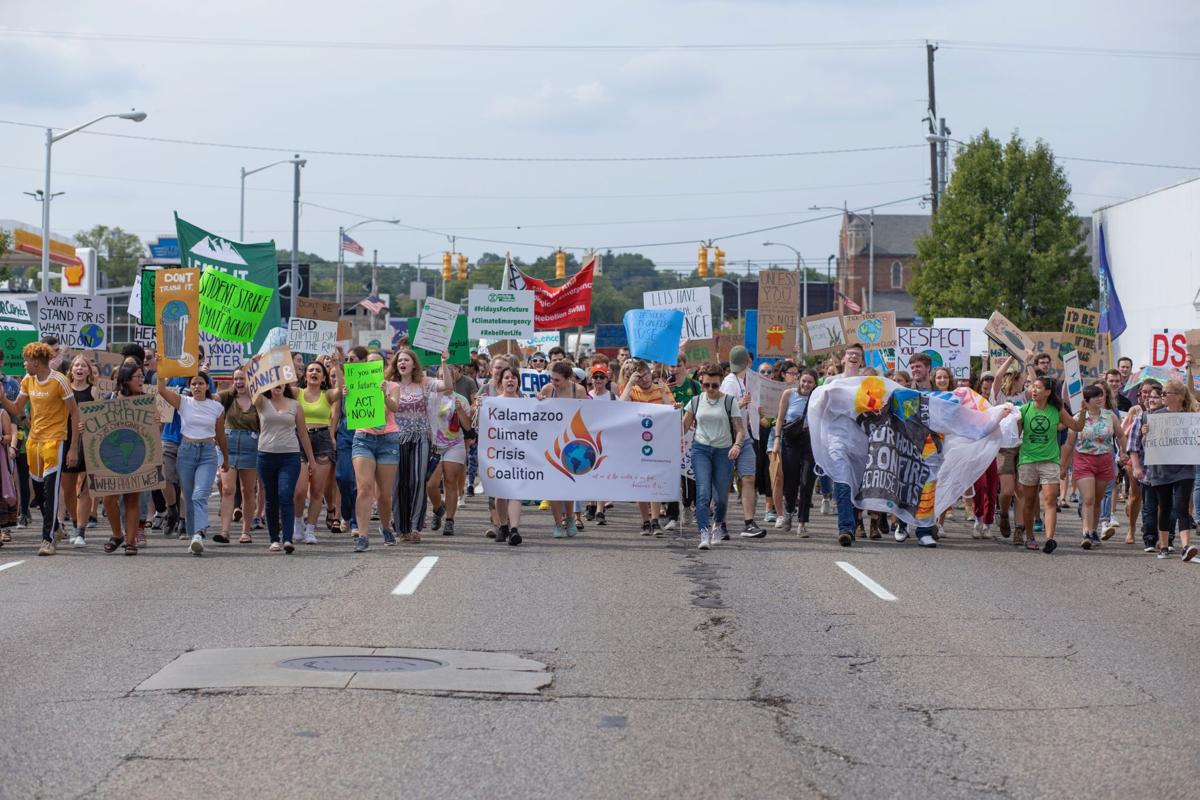 Students and community activists march for action.