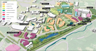 A map of the future of campus at WMU