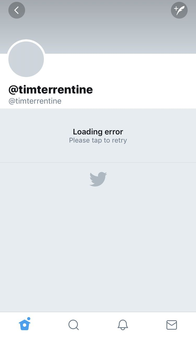 Tim Terrentine's deleted Twitter account