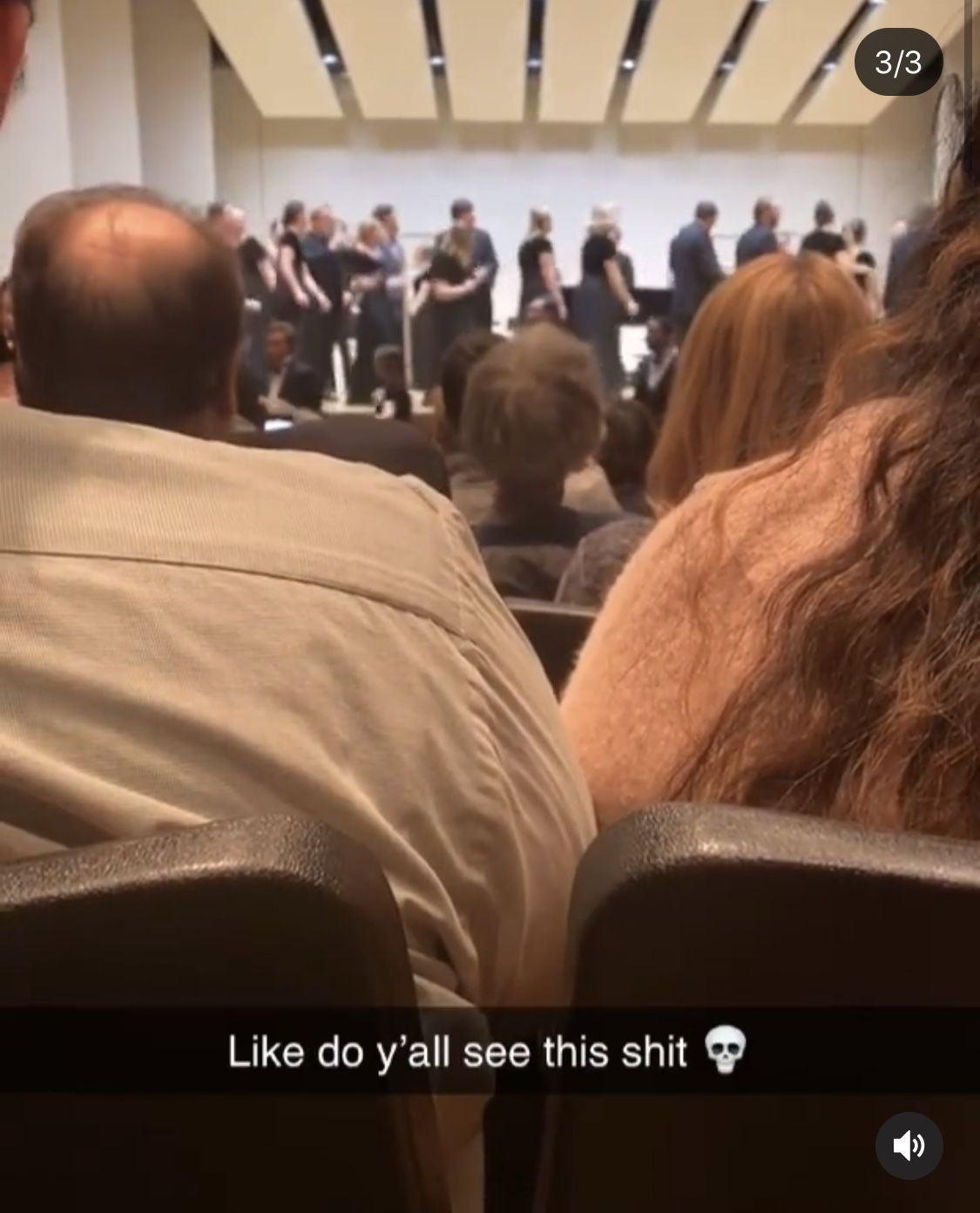 Shaylee Faught's screenshot from the performance has been shared on social media by thousands of people.