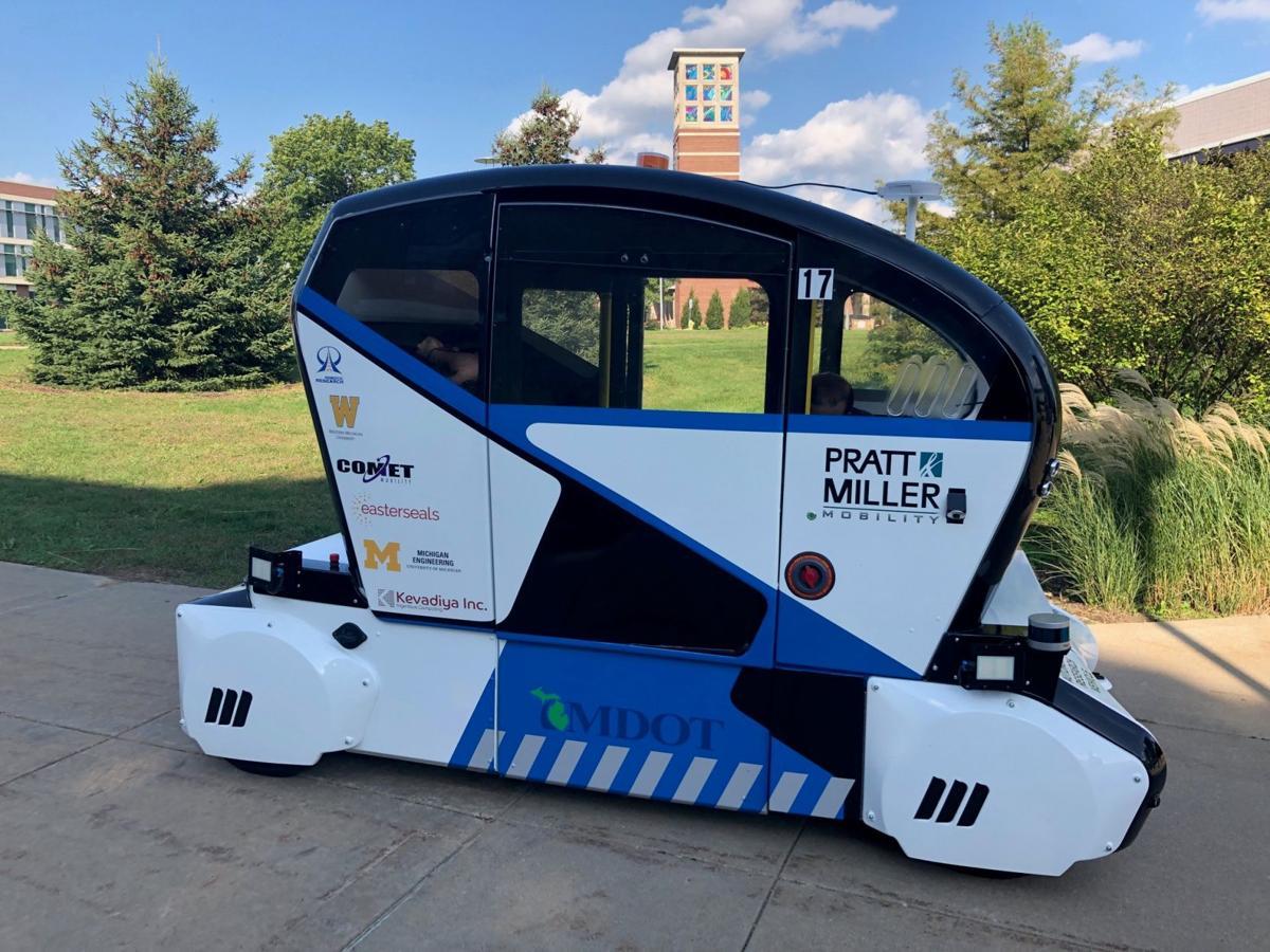Autonomous vehicle roams campus as part of driverless shuttle research