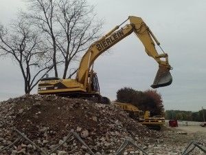Bigelow and Hoekje halls demolished this week at WMU