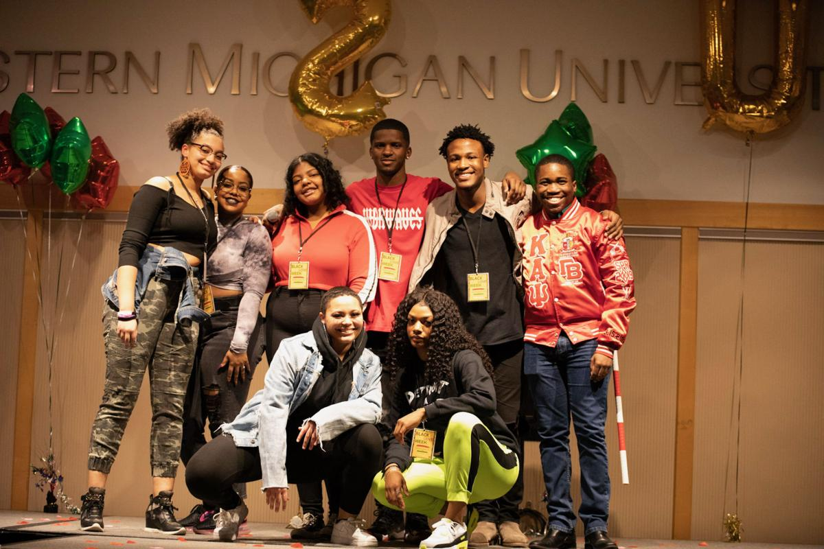 The Black Student Union poses for a photo after the show.