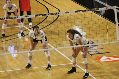 Volleyball drops two five set matches