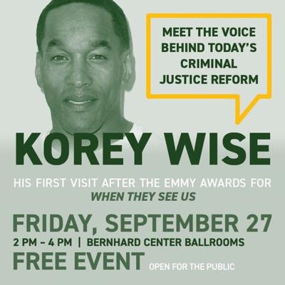 Central Park Five member Korey Wise to discuss criminal justice reform this Friday at WMU