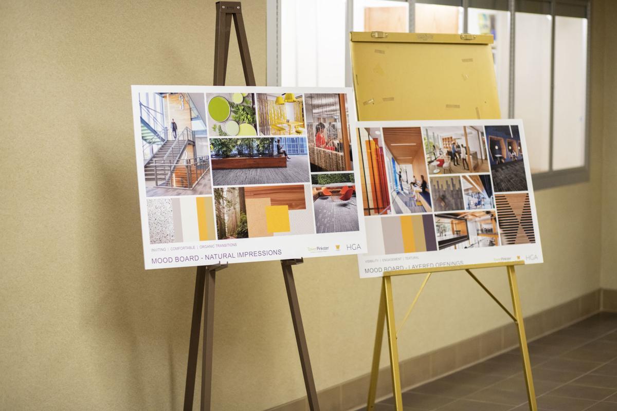 Dunbar Hall interior design boards.