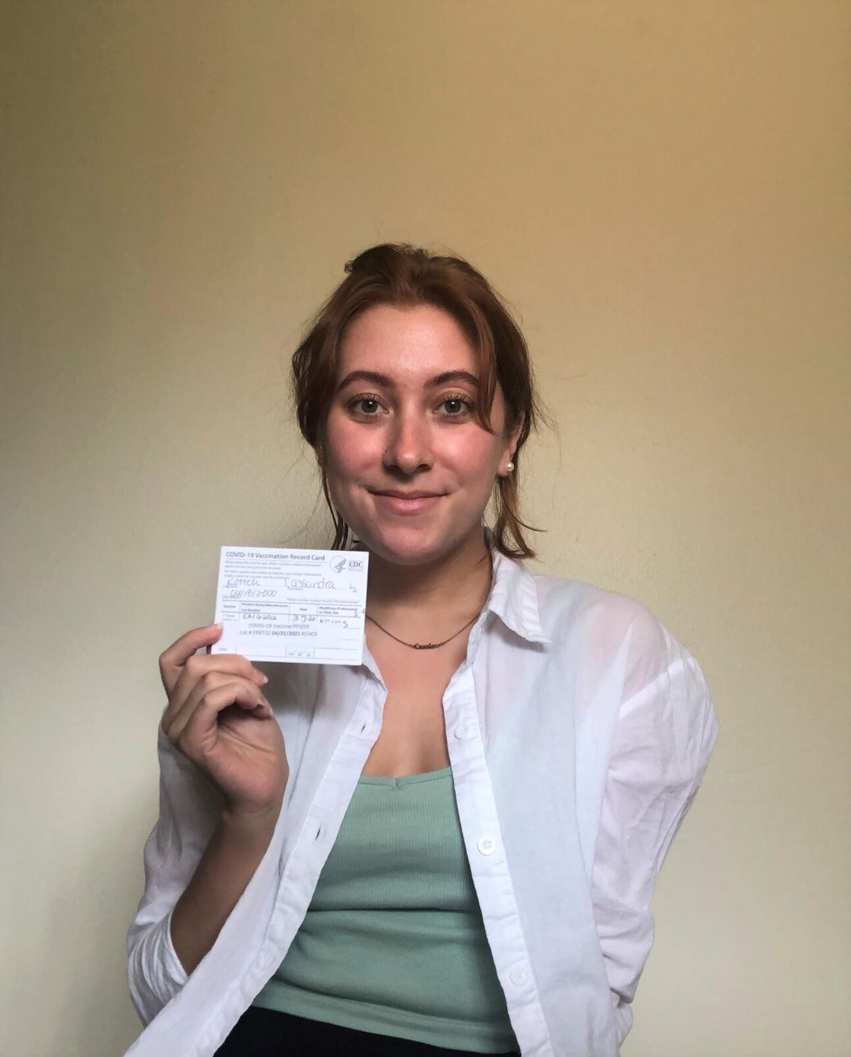 Cassie Kotrch Vaccination Card