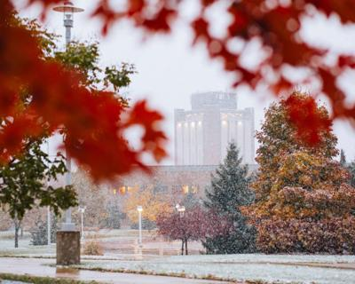 Looking back at last winter's class cancellations after first snowfall hits campus