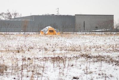 Encampment in a field