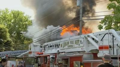 Palmer couple recounts terrifying moment when their residence went up in flames.