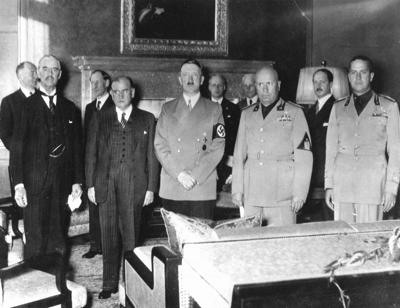 Portrait of European leaders of 1938 Peace Conference