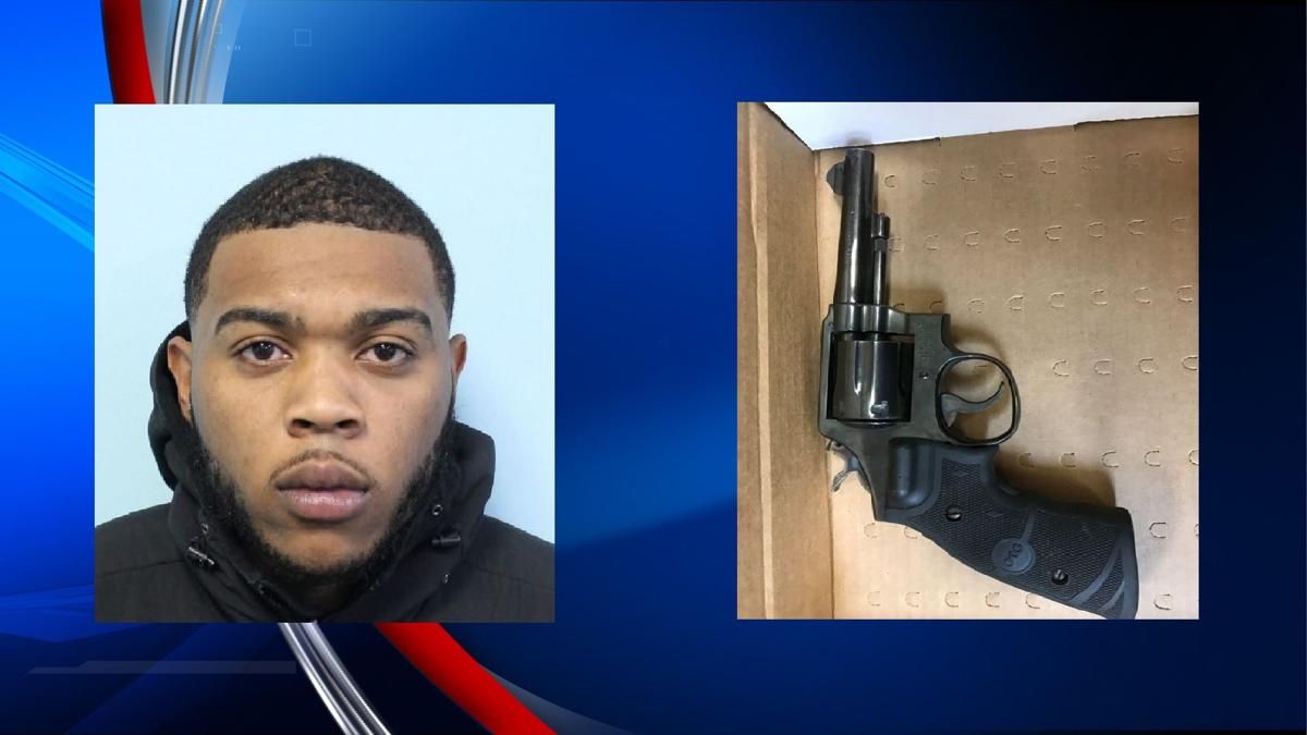 Police arrest Springfield man after finding illegal gun inside his home.