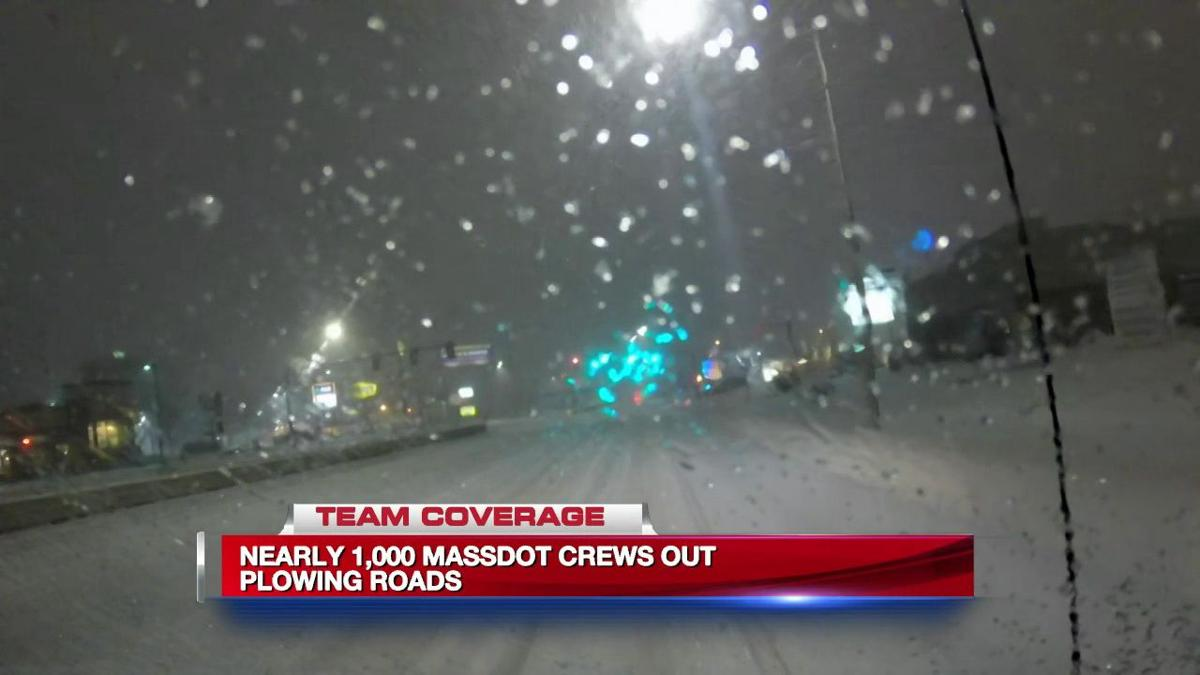 Thursday night snowfall impacting road conditions
