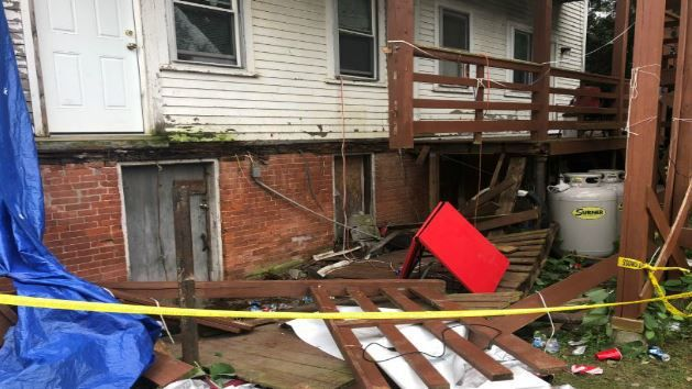 Porch collapses, paramedic assaulted during first official UMass weekend