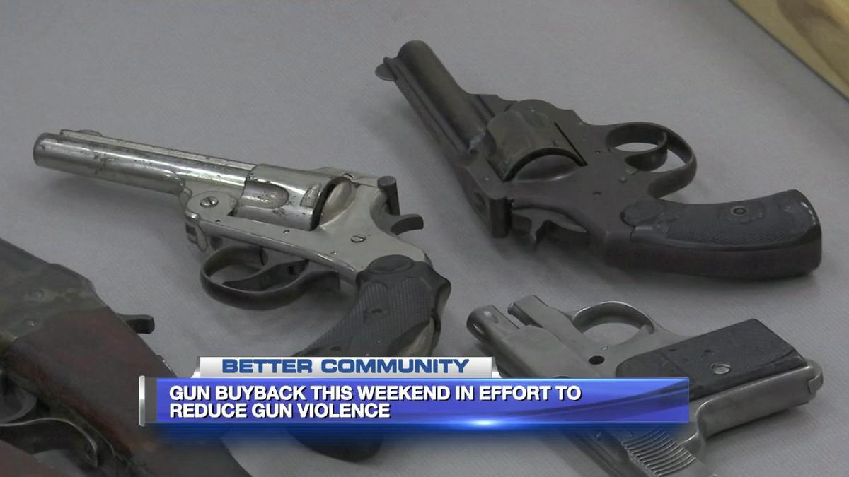 Getting involved in a gun buyback program happening this weekend