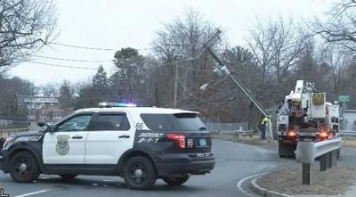 Accident on Page Boulevard in Springfield leaves pole damaged, detour in place