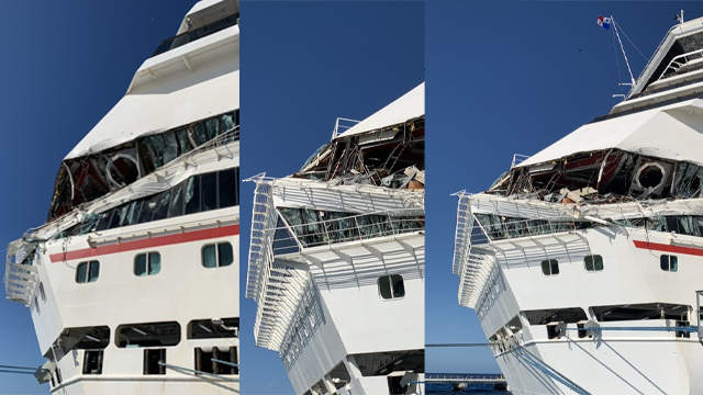 Two Carnival cruise ships crash into each other in Cozumel ...