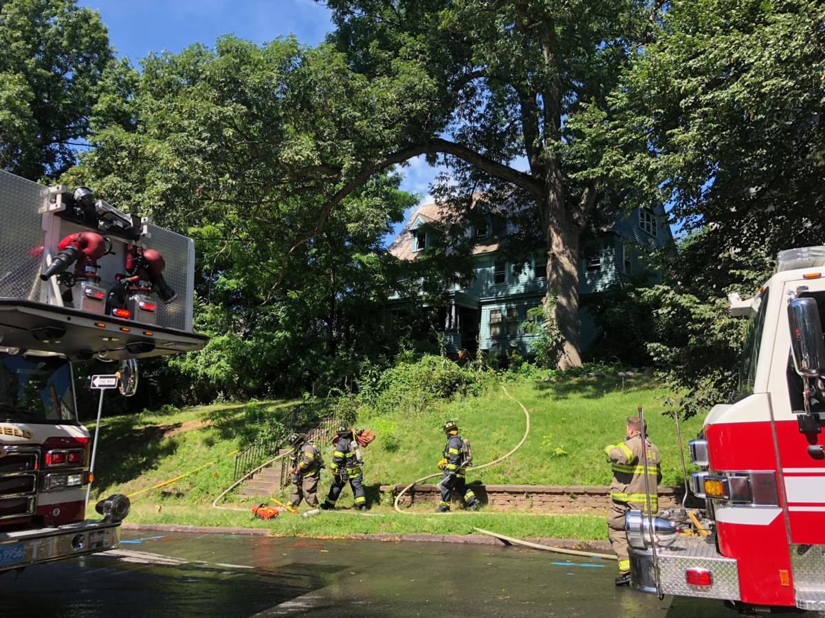 Structure fire on Mulberry St. in Springfield