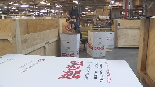 Toys for Tots warehouse 110918