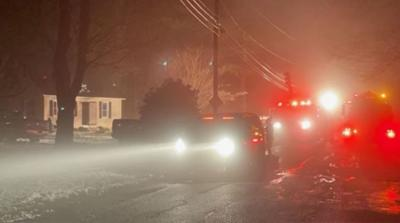 Two temporarily displaced after fire breaks out at Palmer home.