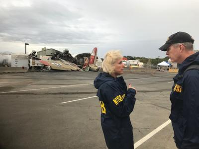 Cleanup, containment of firefighting foam continues following deadly vintage plane crash