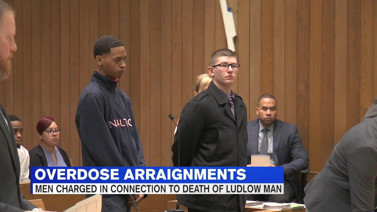 Two men arraigned in connection with March overdose death