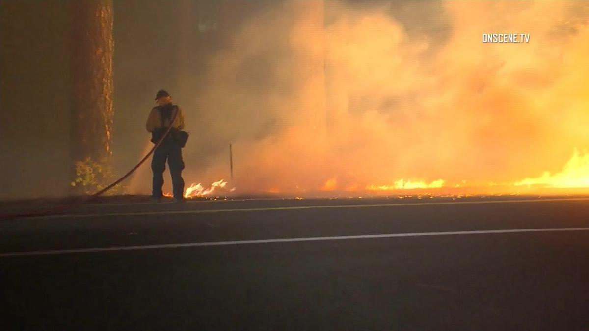 Local firefighters standby as California fire continues