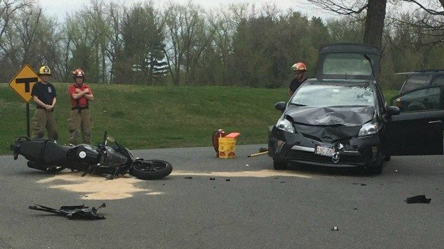 Driver cited following crash involving car and motorcycle in Hadley