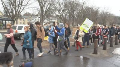 Amherst student walkout climate change