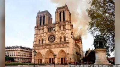 Springfield Diocese reflects on fire at iconic Notre Dame Cathedral.