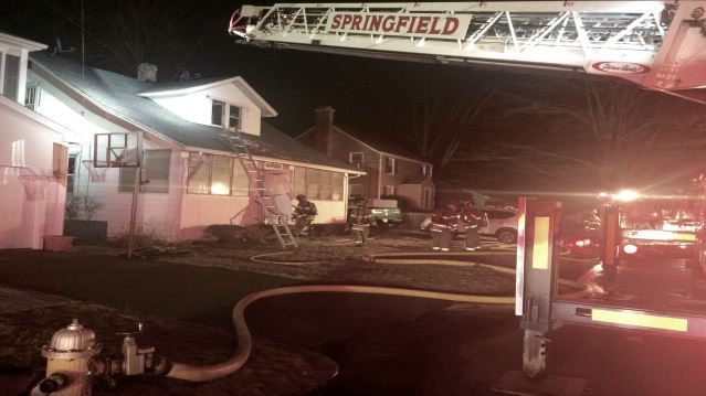 Multiple people displaced after fire breaks out at Springfield home