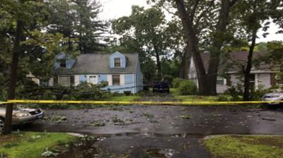 Clean-up efforts underway in western Mass after strong line of storms moves on through.