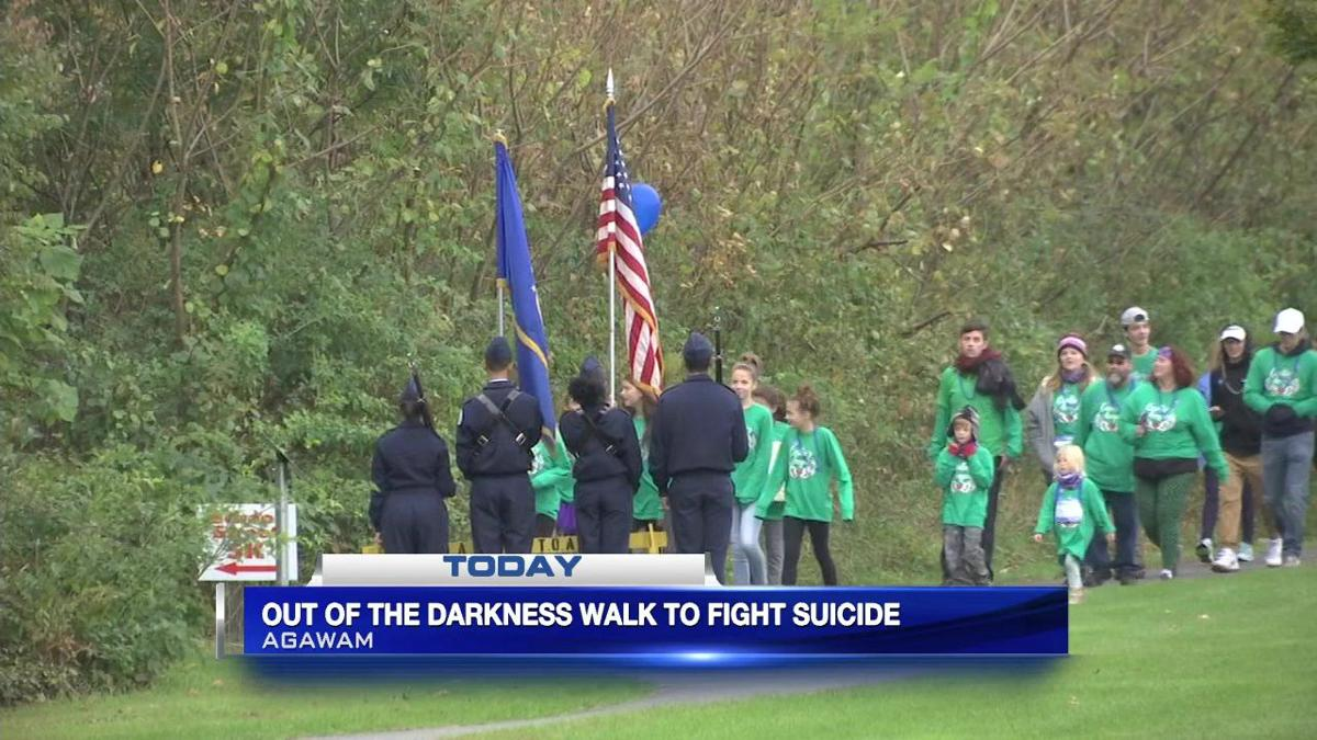 'Out of the Darkness' walk to fight suicide held at School Street Park in Agawam
