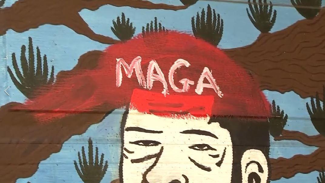 San Francisco murals vandalized with pro-Trump messages