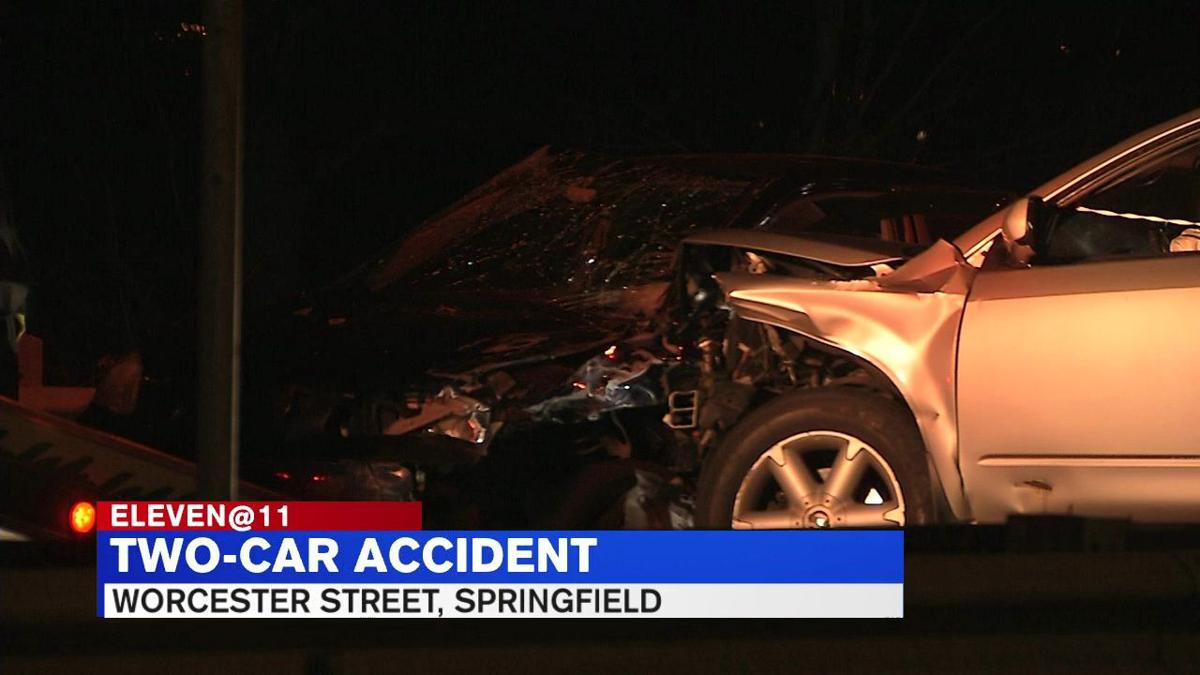 One person transported to hospital following multi-car crash on Worcester  Street in Springfield