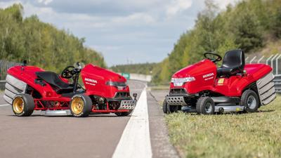 This Honda lawnmower is the fastest in the world, hitting 100 mph in 6 seconds