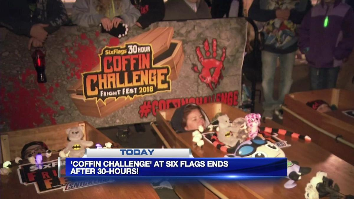 'Coffin Challenge' at Six Flags ends after 30 hours
