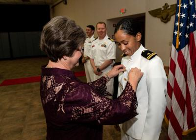 US Navy's first Black female tactical jet pilot gets her 'wings of gold'