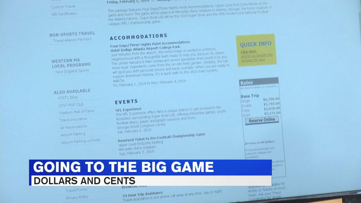Travel agents: act fast if you considering going to the big game