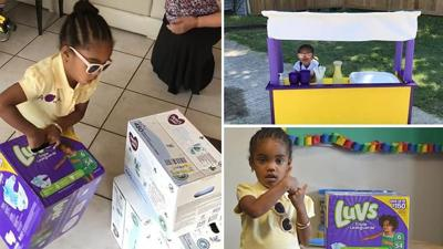 3-year-old uses lemonade stand profits to buy diapers for babies in need